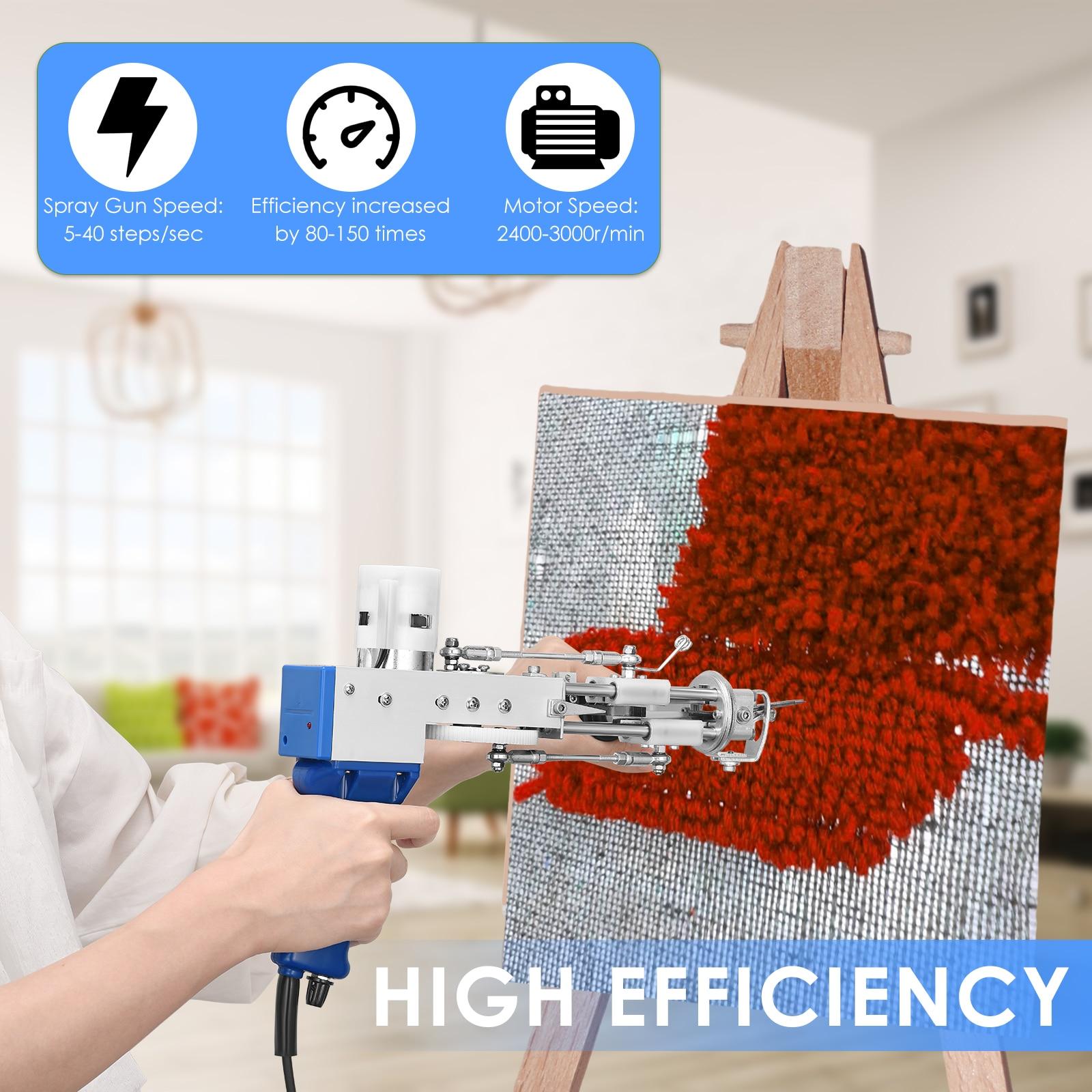 Electric Carpet Tufting Gun Cut Pile and Loop Pile 2 in 1 Carpet Rug Guns Carpet Weaving Knitting Machine for DIY, Knitting enlarge