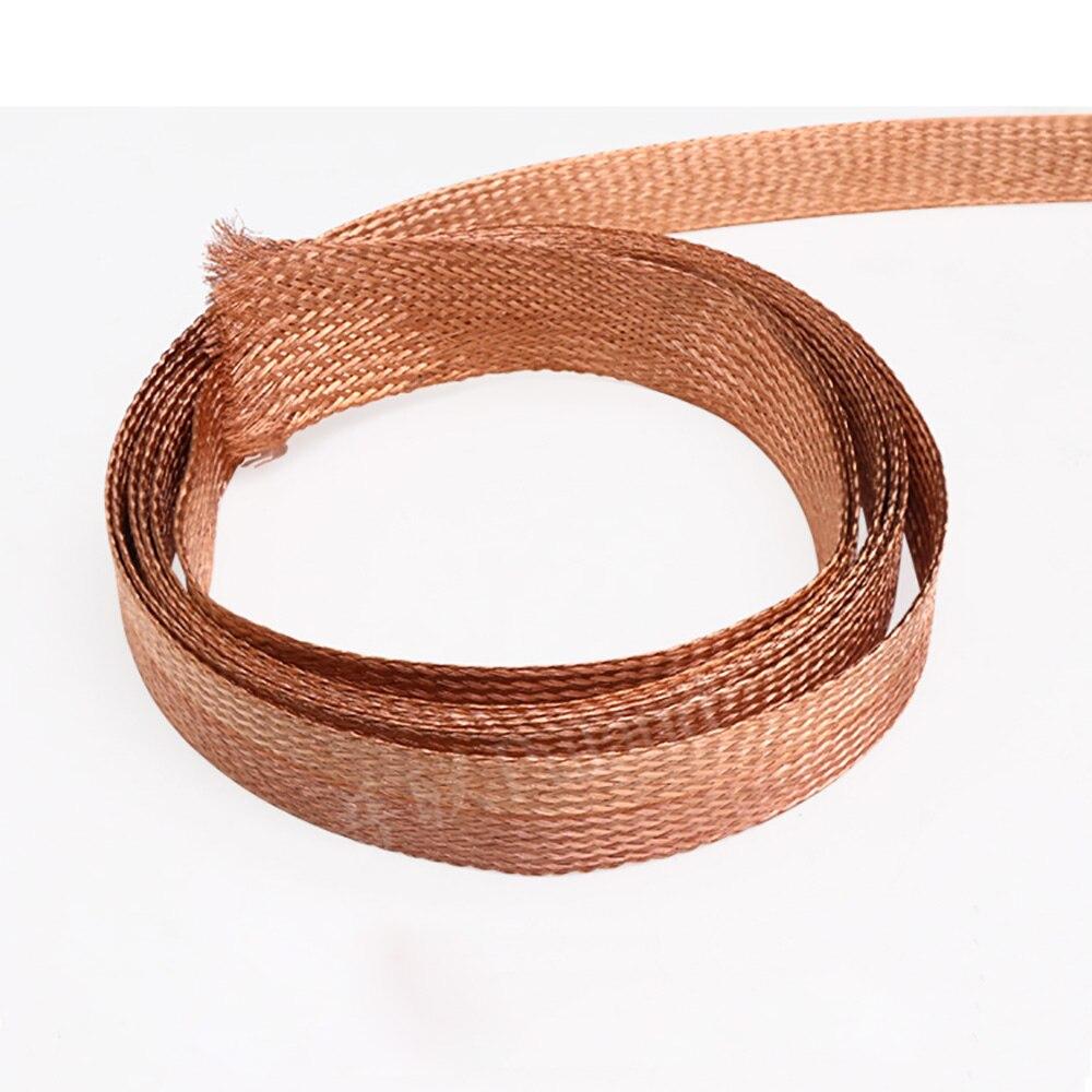 Manga trenzada de cobre de 1 metro, Cable de protección de Metal,...