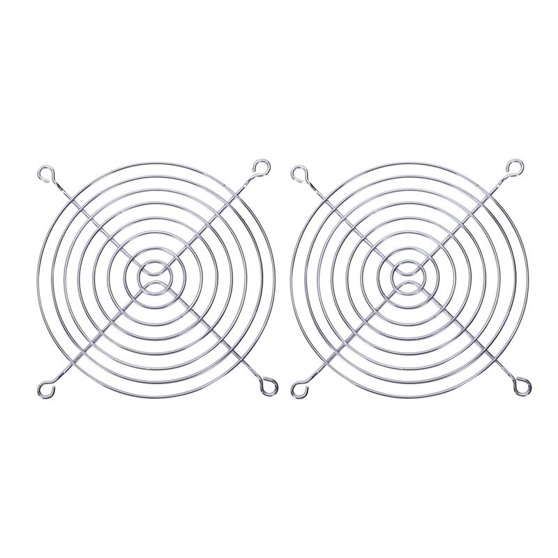 2 x rejilla de protección de dedo de alambre de Metal para el ventilador de la caja de la computadora de 120x120mm
