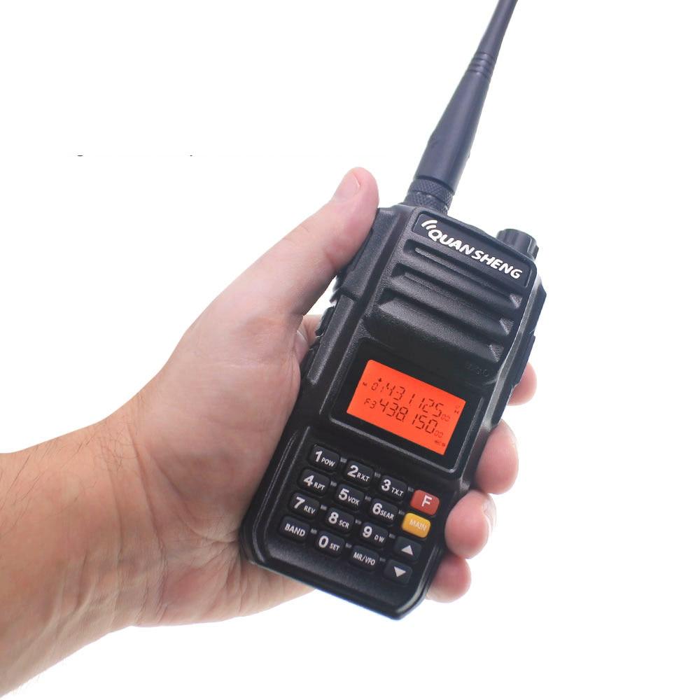 10 كجم QuanSheng TG-UV2 زائد 10W طويلة المدى اسلكية تخاطب ثنائي الموجات 136-174 و 400-470mhz 4000mah FM راديو UV2Plus