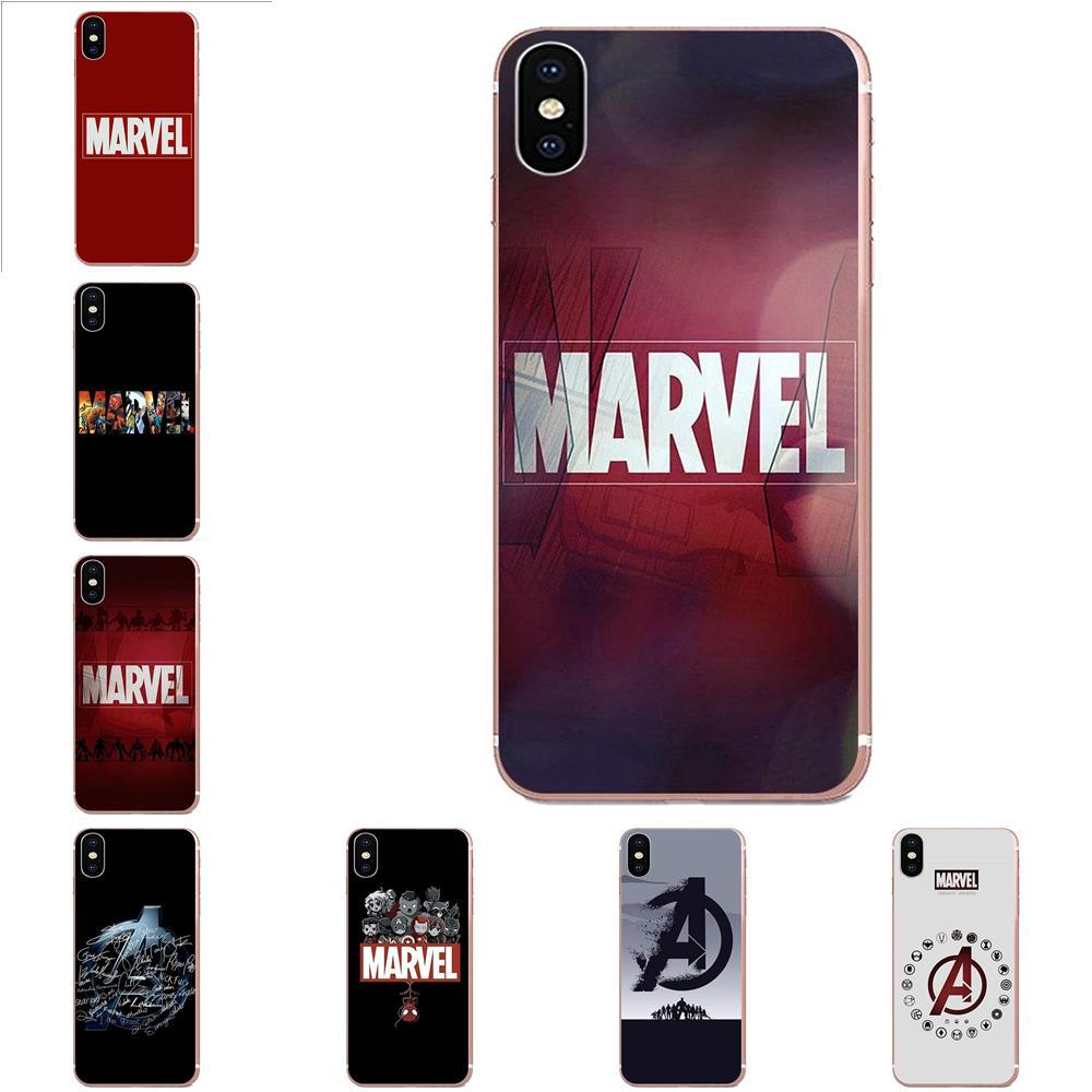 Hot Marvel Comics Logo TPU New Arrival For Huawei Nova 2 V20 Y3II Y5 Y5II Y6 Y6II Y7 Y9 G8 G9 GR3 GR5 GX8 Prime 2018 2019