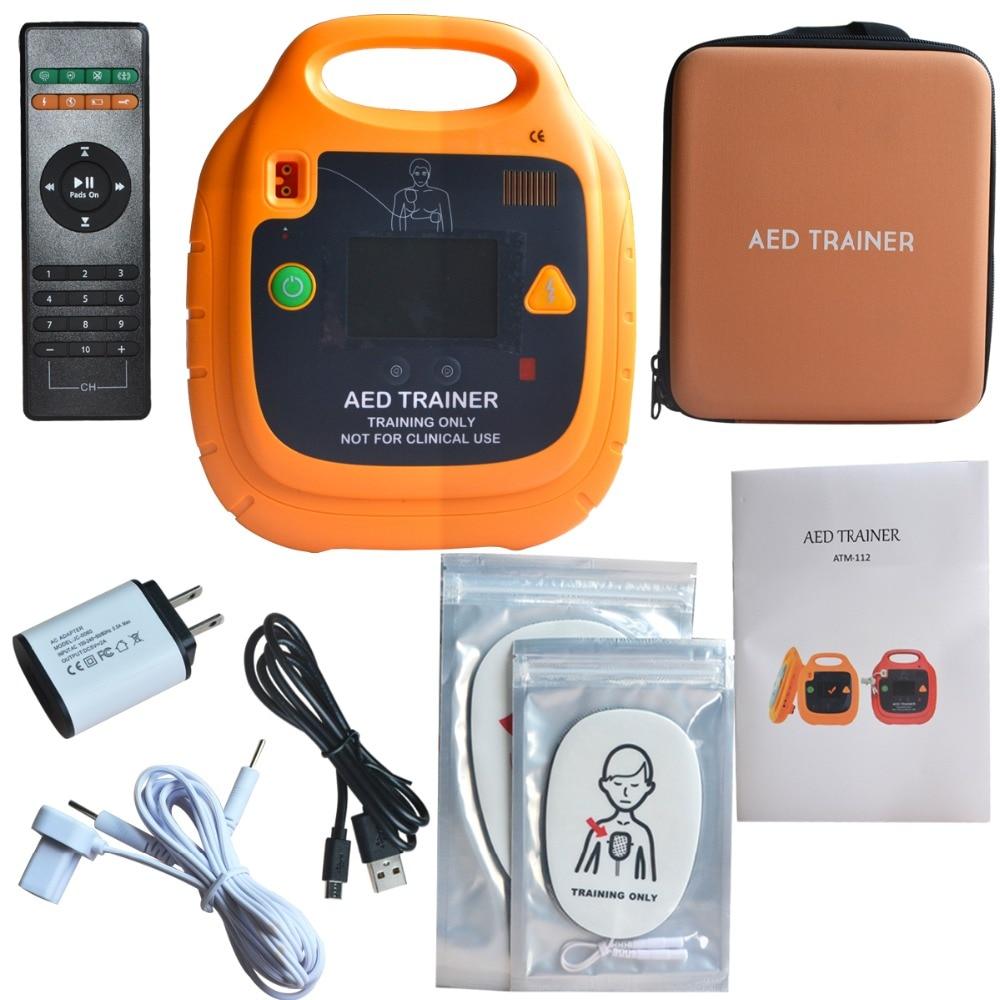 جهاز توجيه الرجفان الجديد الأوتوماتيكي وجهاز تحكم تلقائي عن بعد CPR أداة تدريب الإسعافات الأولية