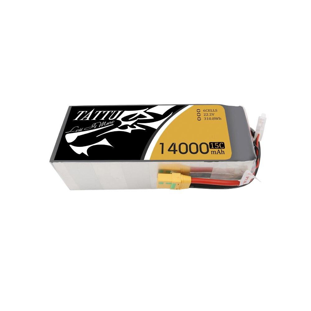 TATTU 22.2V 15C 6S 14000mAh  16000mAh Lipo  Battery Pack with XT90-S  Plug for Multirotors Drone or Quadapter UAV Drone