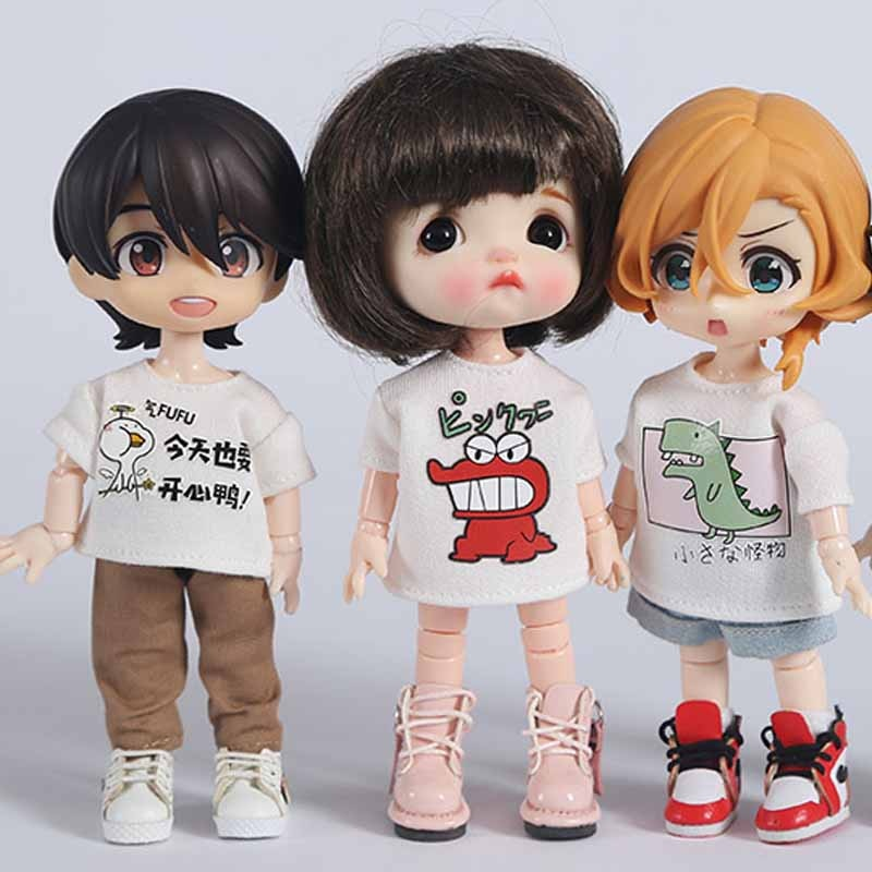 OB11 Clothes BJD Doll Accessories Doll T-Shirt Clothes For OB11 Doll недорого