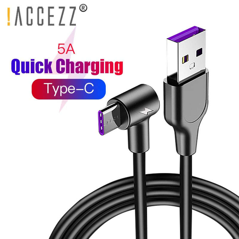 !ACCEZZ USB Cable 5A Type C For Samsung S9 S8 S10 Plus Xiaomi redmi Note 7 mi9 Mobile Phone Fast Cha