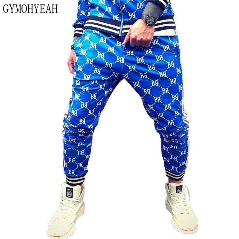 GYMOHYEAH 2019 pantalones para hombres pantalones de chándal Hip Hop pantalones para correr 3D pantalones de secado rápido para hombres gimnasios de culturismo pantalones de chándal ajustados para hombres