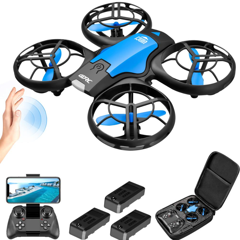 V8 New Mini Drone 4K 1080P HD Camera WiFi Fpv Air Pressure Height Maintain  Foldable Quadcopter RC Dron Toy Gift
