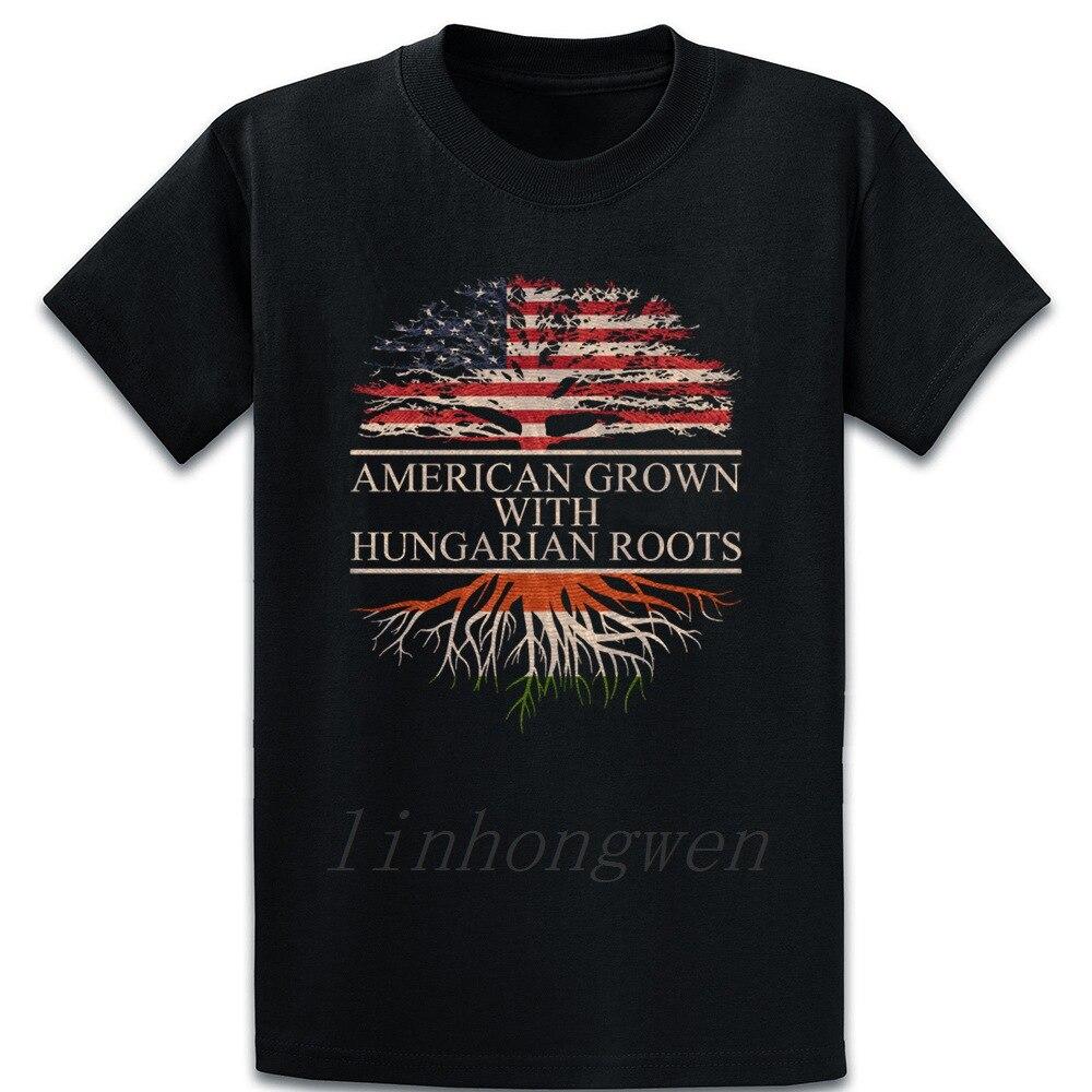 American Grown With hungaran Roots camiseta de madera verano Original sobre el tamaño S-5XL traje Fitness algodón Basic Camisa estampada