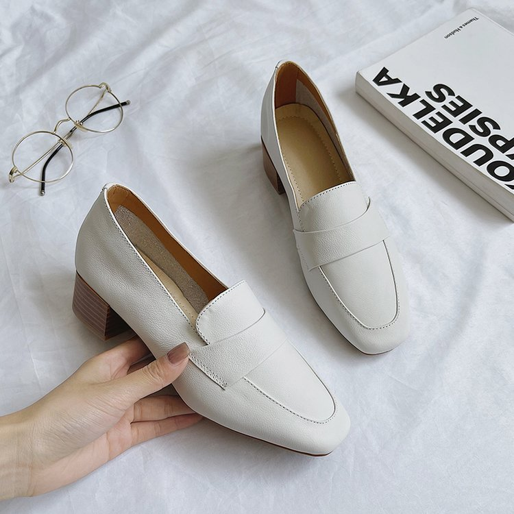 Spring and autumn white-collar commuter shoes, ladies high-quality comfortable high-heeled shoes, la