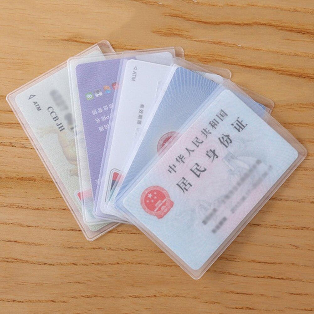 Чехол для рабочего удостоверения, прозрачный многофункциональный защитный чехол унисекс для держатель для карт, закрытый пропуск, принадл...