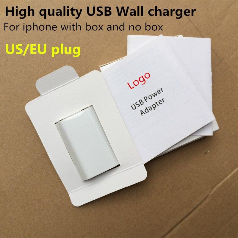 10 Uds. Enchufe de alta calidad EU US Cable USB AC viaje cargador de pared adaptador de corriente para iPhone 6 De Apple 6s 7 8 Plus X XR XS Max cargador