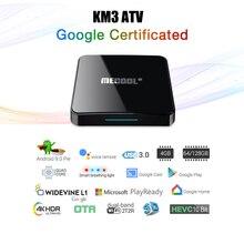 KM3 3D TV Box caja de la TV Android certificado por Google Android 9,0 TV Box 4GB 128GB Amlogic 4K Wifi Dual Set Top Box