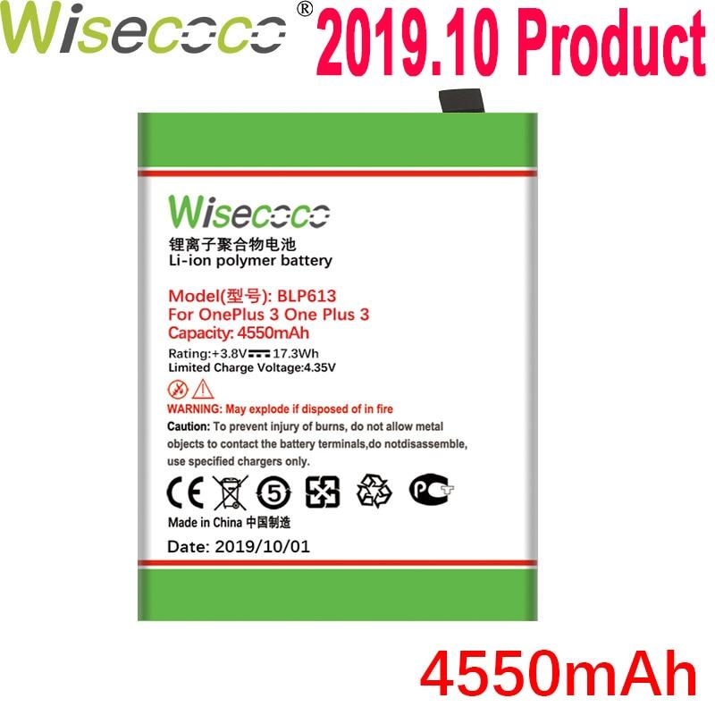 WISECOCO 4550mAh BLP613 batería para OnePlus 3 One Plus 3 teléfono en Stock última producción batería de alta calidad + número de seguimiento
