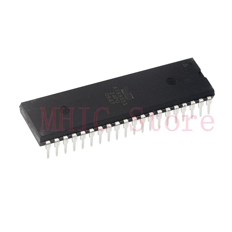 10 unids/lote AT89S51-24PU DIP-40 ATMEL MCU importación Original