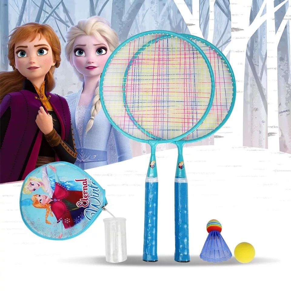 Disney Frozen Children's Badminton Racket Set 3-12 Years Old Double Racket 2 Pack Badminton Racket Outdoor Tennis Racket