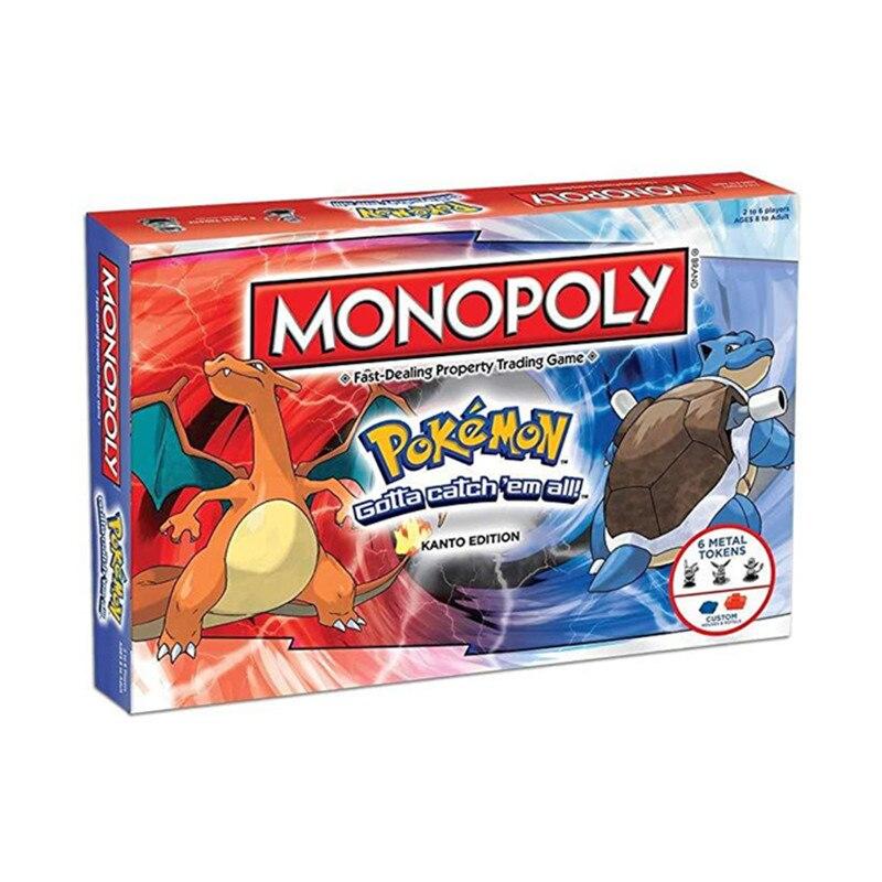 Pokemones tekel oyuncaklar Pokemones tüm İngilizce kurulu oyun kartı kart oyunu aile toplama noel hediyesi kutusu