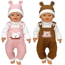 Reborn Baby Doll Clothes 40 cm Hat Set For Baby Dolls Rompers Toys Outwear Children Girl Gifts