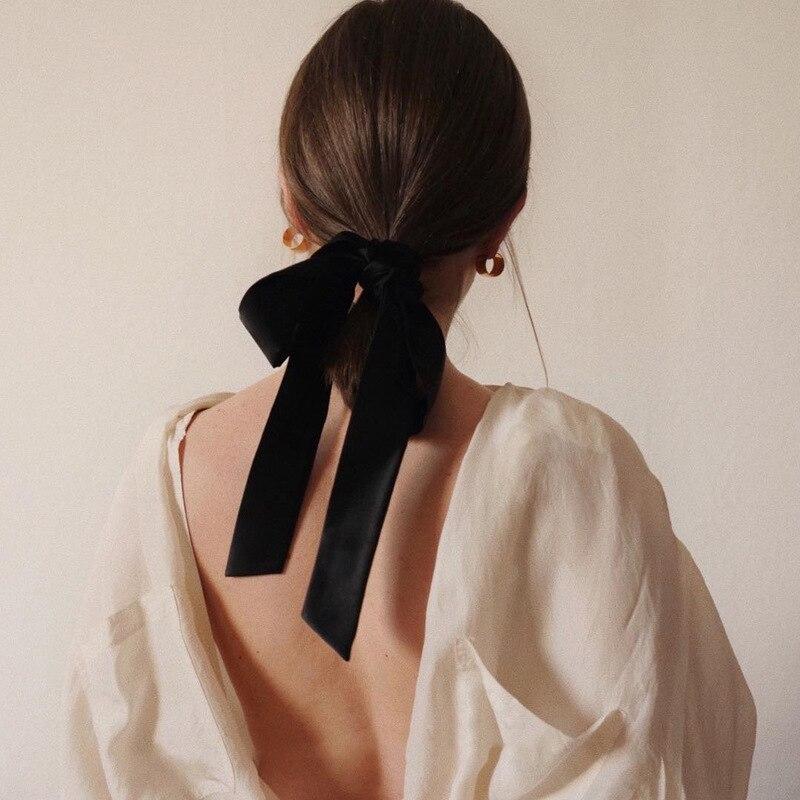Fille française velours corde Streamer arc chouchous anneau de cheveux automne et hiver coréen rétro haute élasticité cravate bandeau coiffure