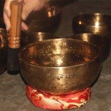 Tibétain pleine lune bol chantant népal pur fait à la main professionnel OM son Bronze bols Yoga thérapie bouddha Chakra cadeau parfait
