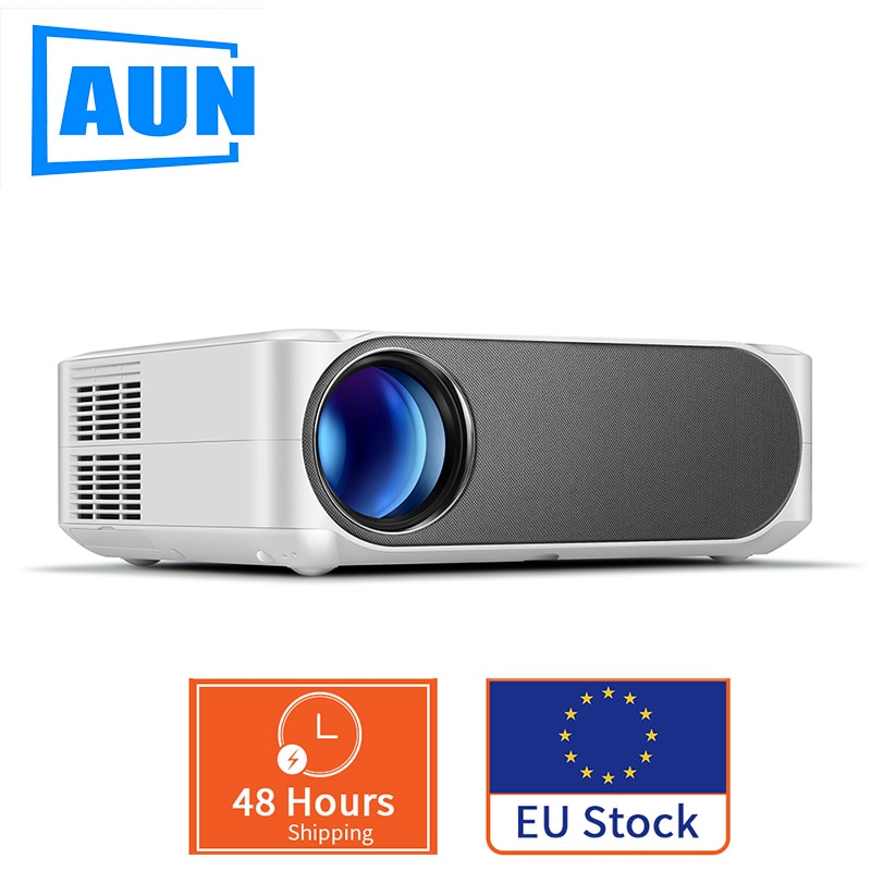 AUN Full HD Projector AKEY6/S 1920x1080P Optional Android 6.0 WIFI LED Beamer for 4K EU / Russia warehouse fast delivery