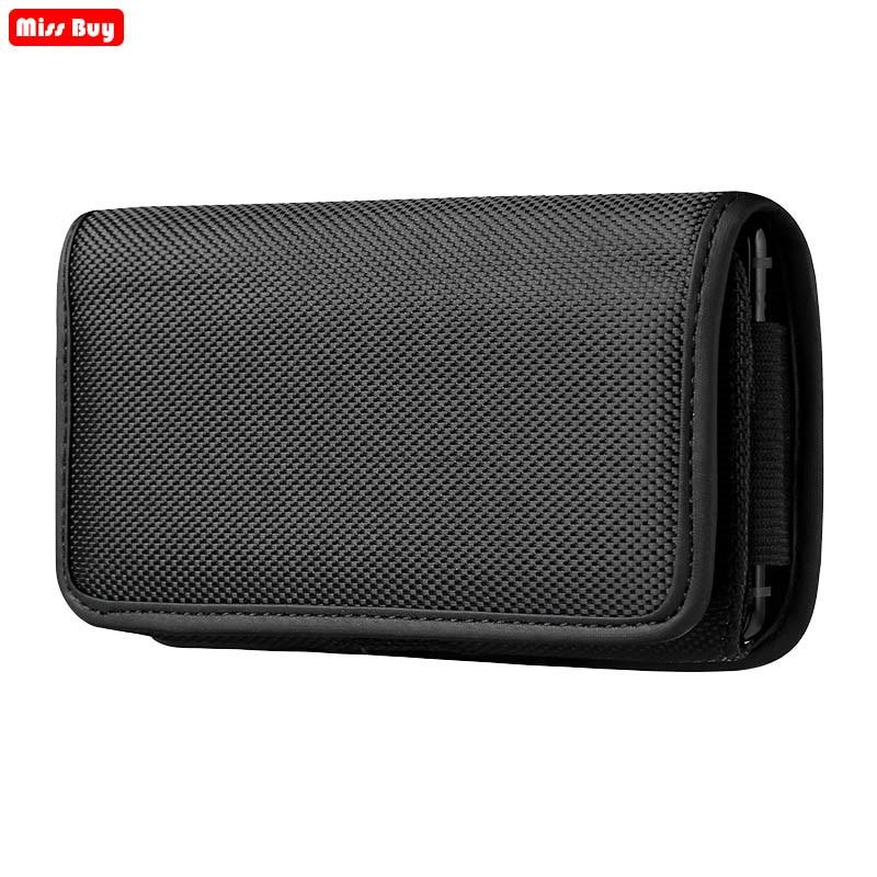 Gürtel Clip Universal Telefon Beutel Für Xiaomi mi 5 Redmi 5 Plus 8A 6 6A 7 Hinweis 8 Pro 10 2 4 4X 4A Fall Oxford Tuch Tasche Flip-Cover