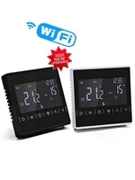new110v 120v 230v all touch screen temperature controller thermoregulator black back light electric heating room thermostat wifi