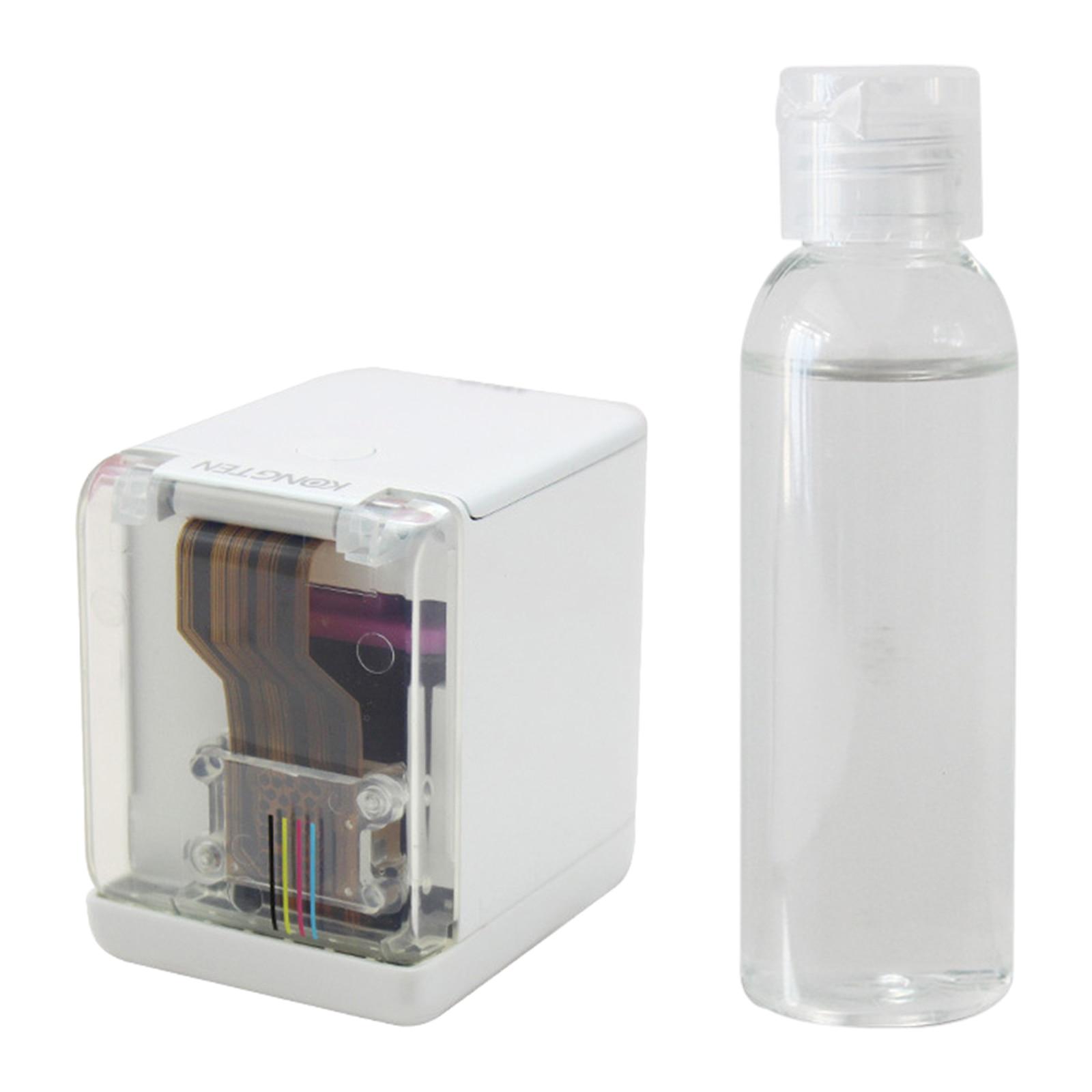 طابعة ملونة صغيرة محمولة (mفرش) USB سماعة لاسلكية تعمل بالبلوتوث طابعة ملونة محمولة مع خرطوشة حبر قياسية
