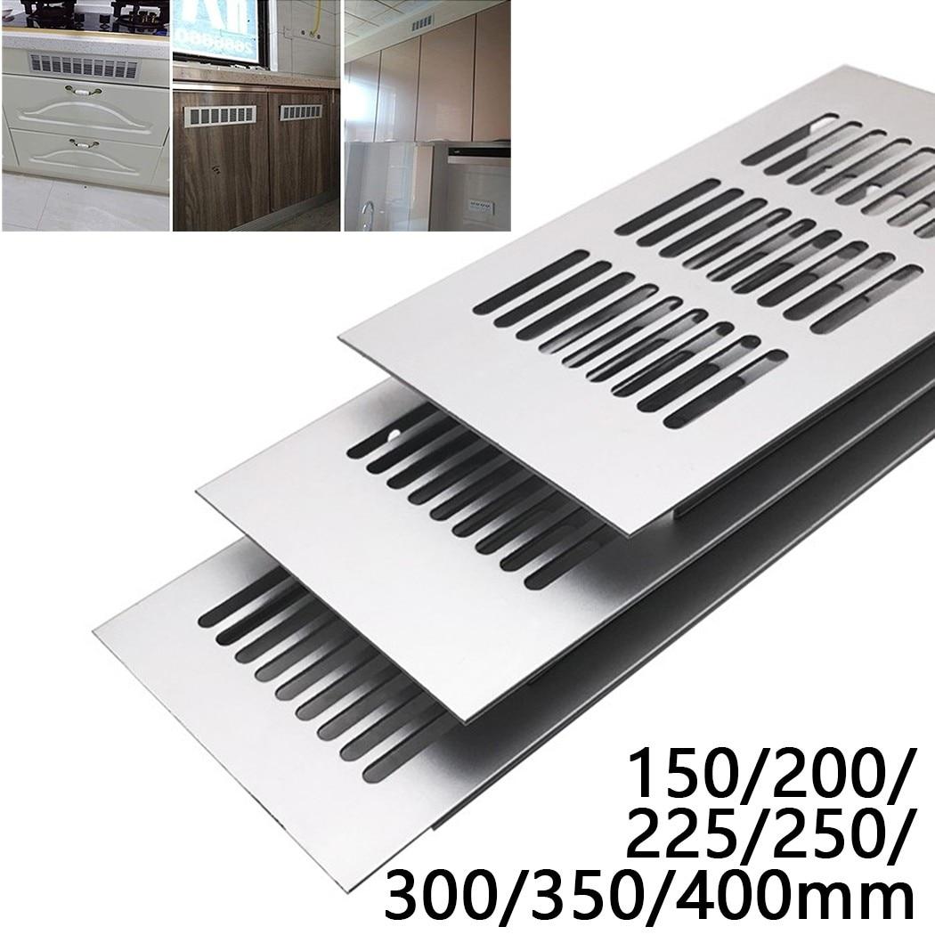 Ventilation Grille 80*150-400mm Grid Rectangle Aluminum Air Vent Furniture Shoe Closet Cabinet Ventilation Grille Cover