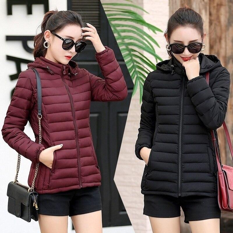 ZOGAA Women Winter Fashion Keep Warm Hooded S-5XL Quilty Puffer Jacket Tide Padded Coat