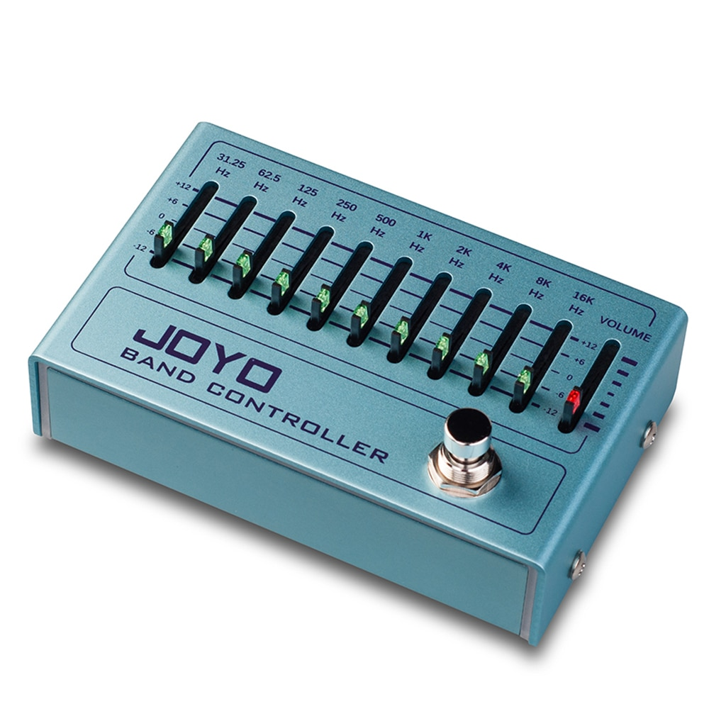 Joyo R-12 Band Controller Equalizer Pedal Guitarra Pedalboard Eq Pedal for Electric Guitar Bass 31.25Hz To16Khz True Bypass enlarge