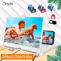 orsda 101214 inch hd stylish universal screen amplifier 3d mobile phone screen amplifier for all mobile phone mag