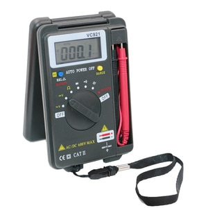 VC921 Multimeter LCD Display DMM Integrated  Handheld Pocket Mini Digital Multimeter With Test Leads new