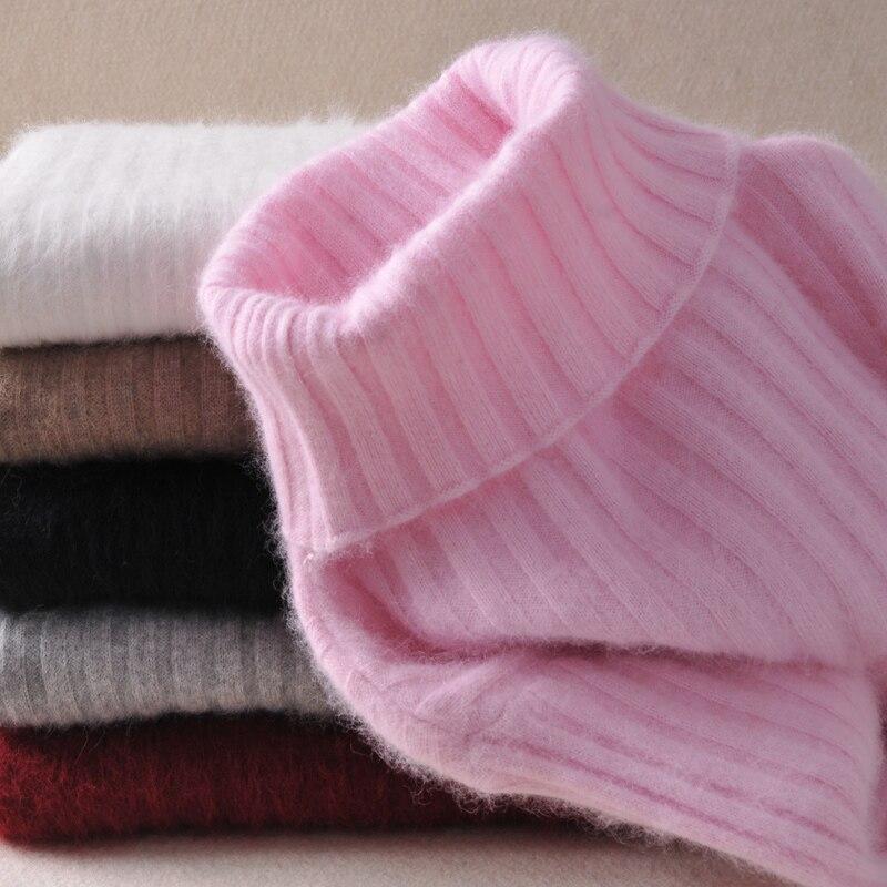 Chaqueta pulóver de manga larga de Cachemira de gamuza para hombre, suéter de cuello alto, ropa de punto ajustada, 15 colores, nueva