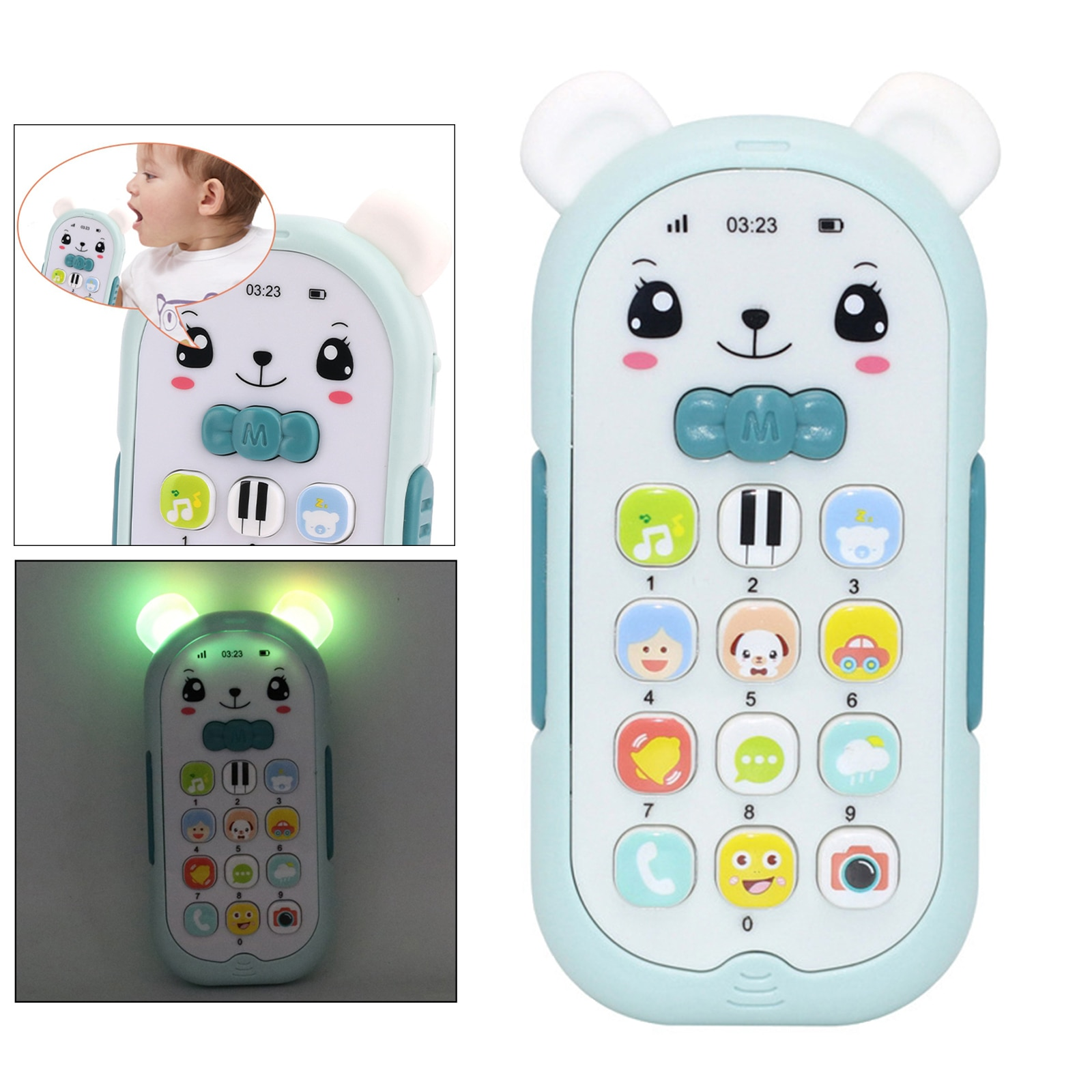 Baby Phone Toy Mobile Telephone Early Educational Learning Machine Kids Gifts Telephone Music Sound
