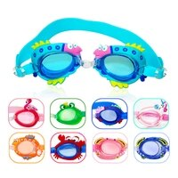 swim goggles swimming glasses kids anti fog uv protection summer pool training mask children eyewear cases bee crab fish dolphin