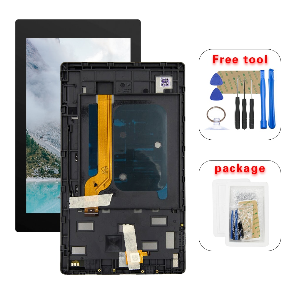 7 polegada para amazon kindle fire hd 7 2019 9th m8s26g display lcd de toque digitador da tela vidro montagem