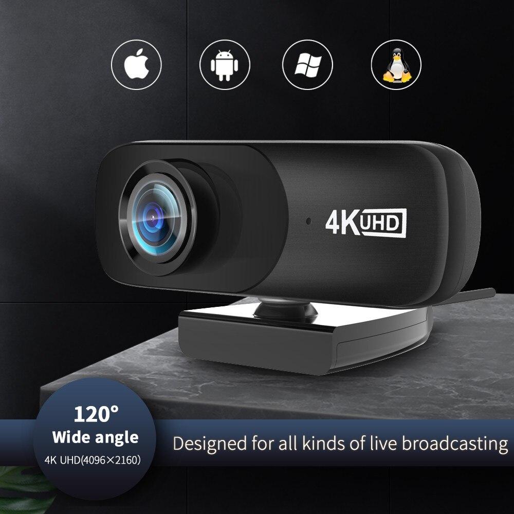 Tishric c160 4k 4096*2160 webcam câmera web com microfone embutido câmera usb para computador pc vídeo conferência
