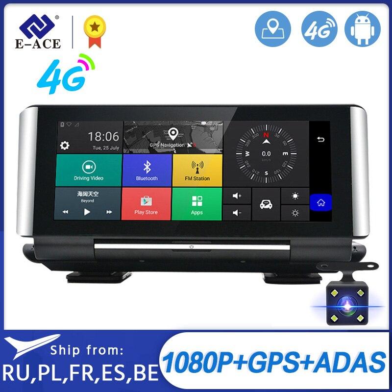 """E-ACE E01 wideorejestrator samochodowy GPS 4G nawigacja Tracker 7 """"Android DVR kamera samochodowa WIFI 1080P ADAS wideorejestrator dla nawigatorów turystycznych samochodów"""