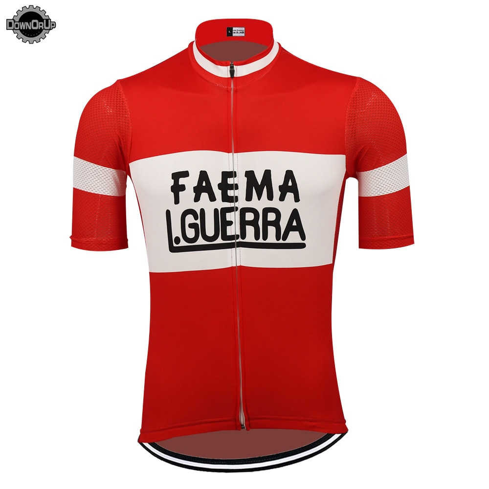 Camiseta de ciclismo rojo para hombre, maillot de manga corta para Triatlón
