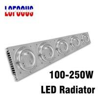 LED Aluminum Heatsink 100W 150W 200W 250W 300W With Fan Lamp Radiators Heat Sink Cooling For DIY Grow Aquarium Light Bulbs
