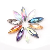 10x30mm marquise crsytal beads 10pcs leaf pendant glass beads for diy necklace earrings women charm bracelet jewelry supplies