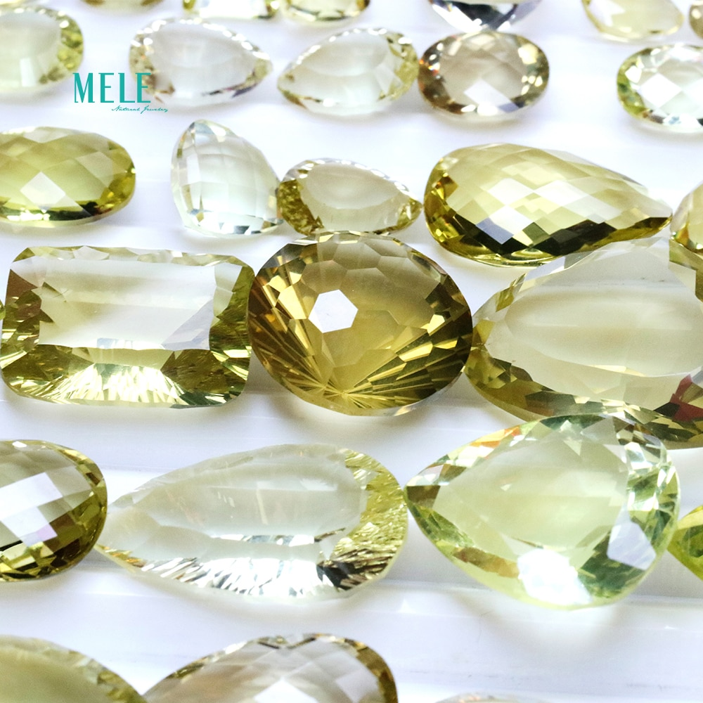 Natural citrine crystal 1ct to 20ct bare stone low price clearance random delivery Pendant Earring R