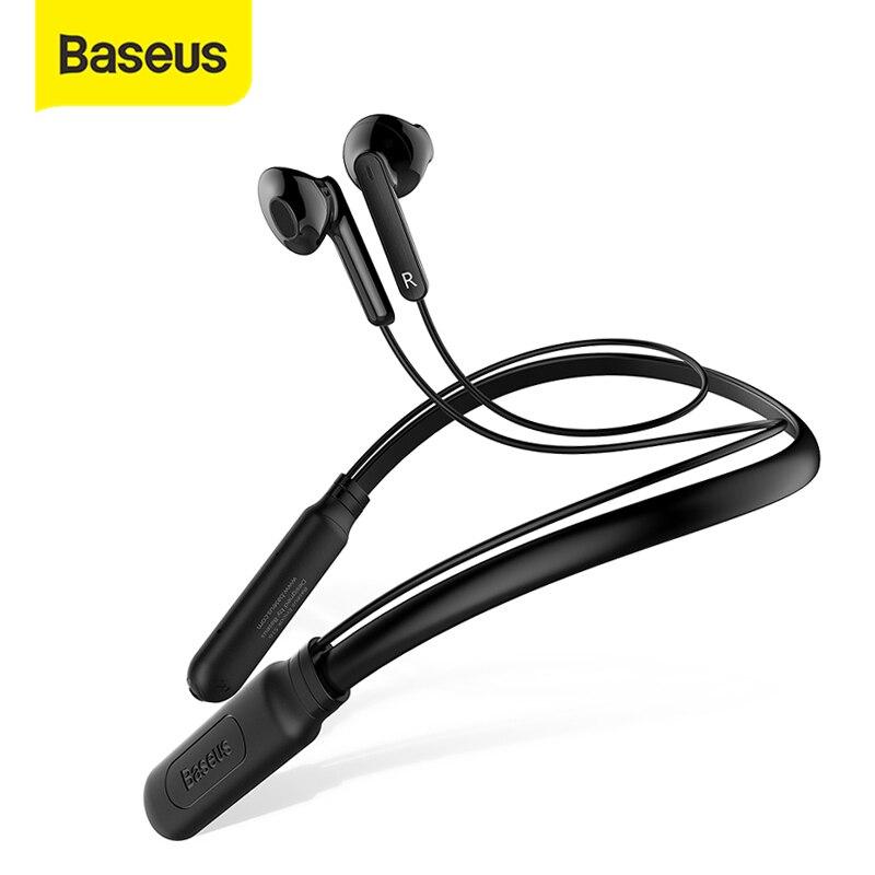 Baseus S16 спортивные наушники с шейным ремешком, беспроводные Bluetooth наушники, встроенный микрофон, беспроводные стерео наушники auriculares для телефона