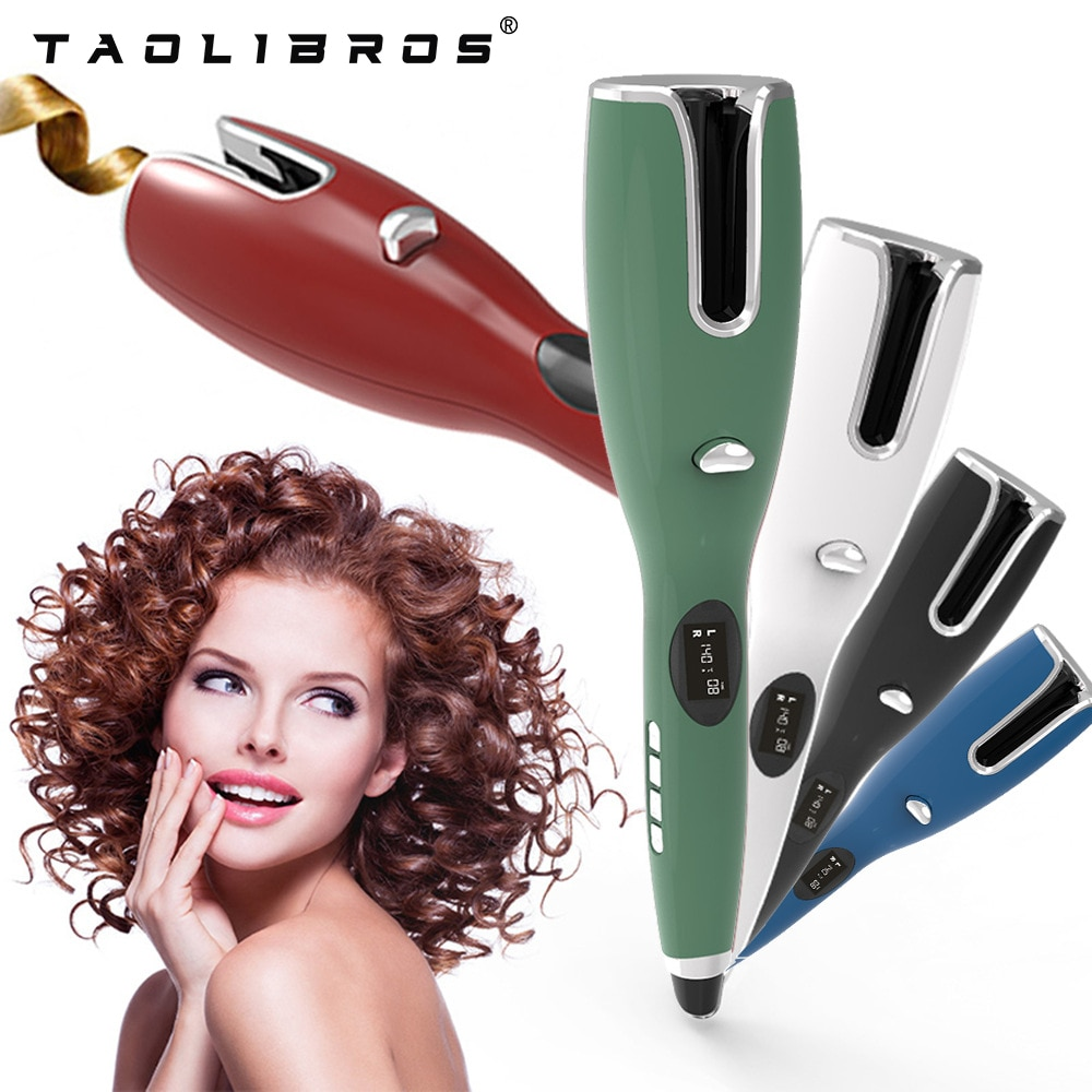 Automatic Hair Curler with LCD Temperature Display, Automatic Rotating Ceramic Hair Curler, Anti-scald, Household Hair Styling