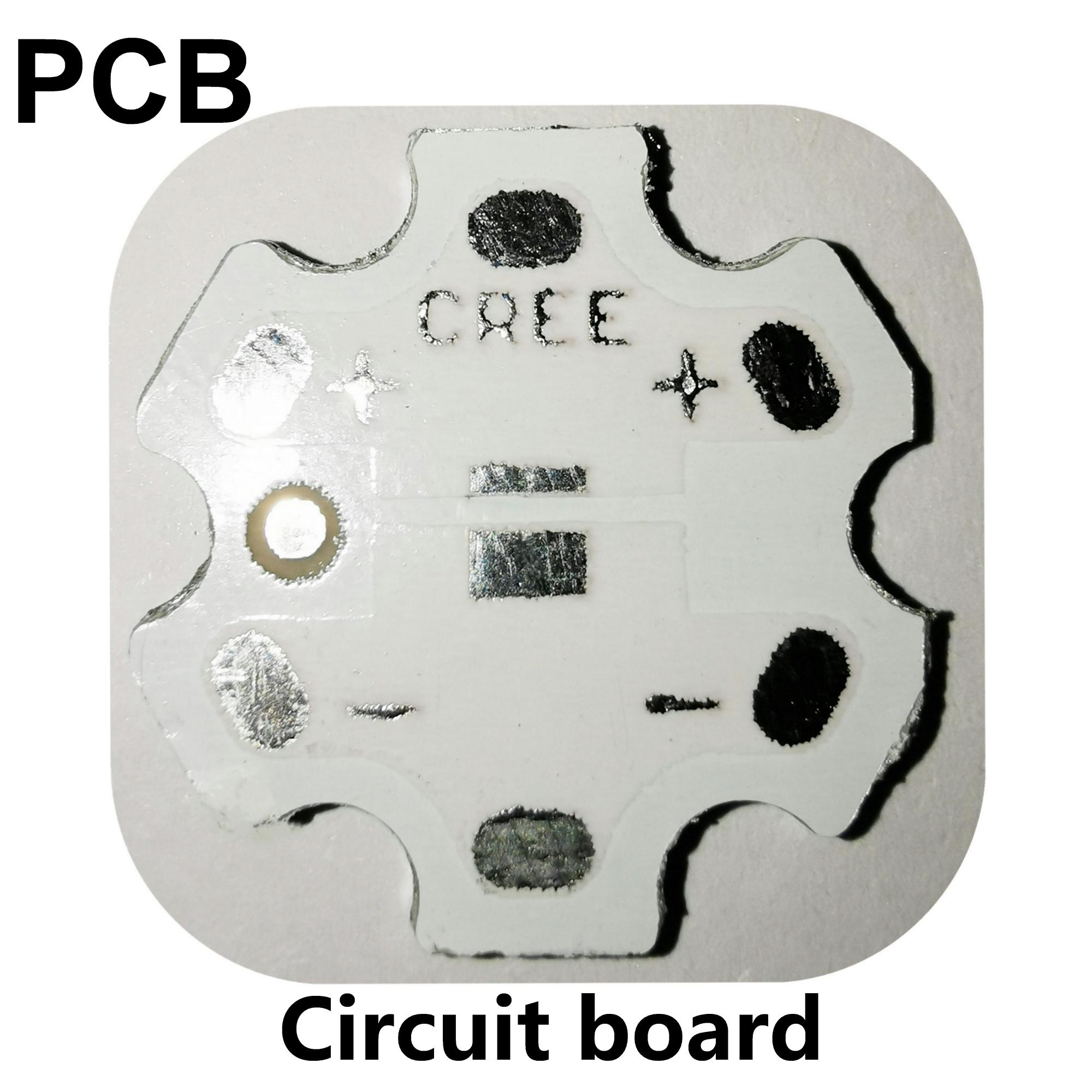200 pcs 20MM PCB 3030 3535 5050 pad can replace 2835 3020 3528 aluminum substrate 6-corner circuit board diameter 19.5mm-20mm