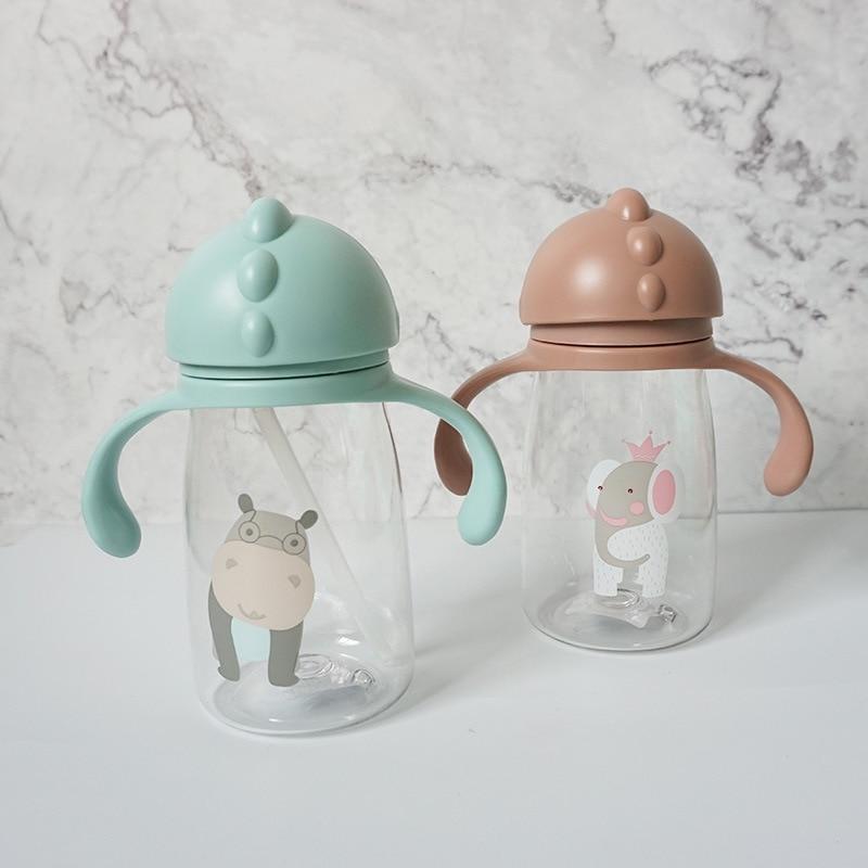Мультяшная детская чашка, водонепроницаемая и герметичная чашка для питья, чашка для питья для обучения, детская чашка для питья, тренирово...