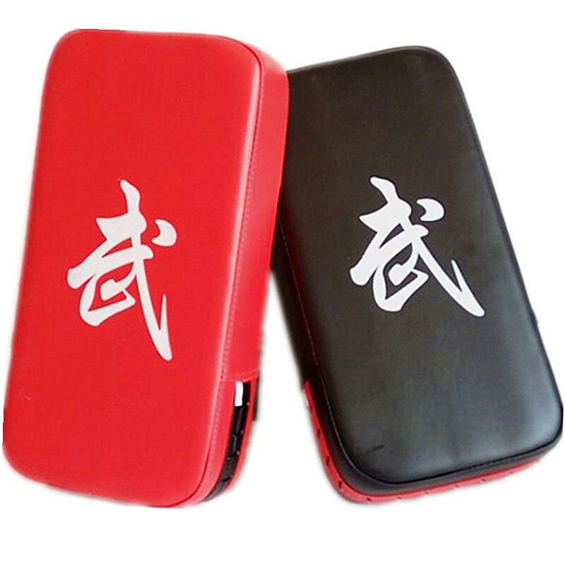 1 pçs almofada de boxe saco de areia fitness taekwondo mão chutando almofada de treinamento de couro do plutônio engrenagem muay thai pé alvo