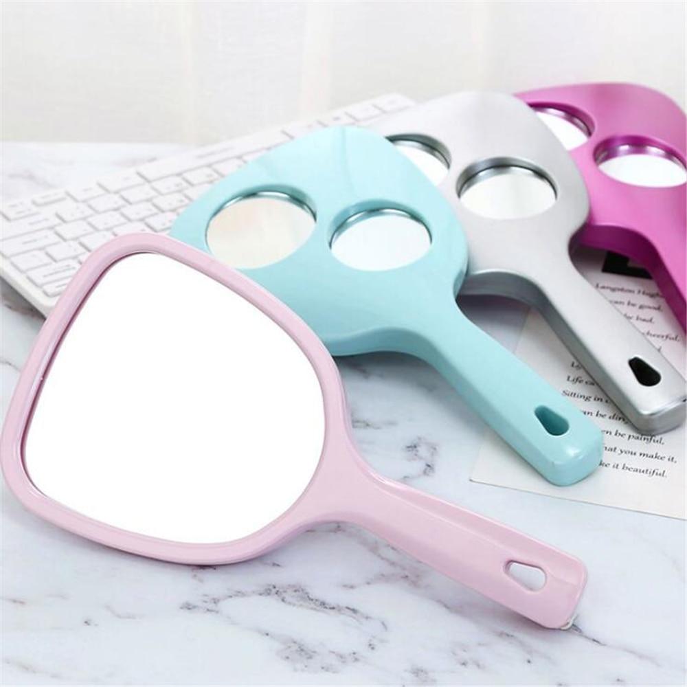 Handheld Makeup Mirror Hand Mirror Vanity Mirror SPA Salon Makeup Vanity with Handle Magnifying Mirr