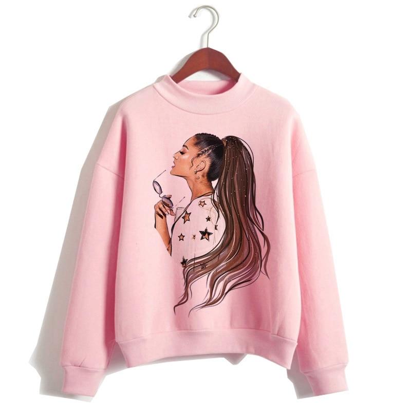 2020 women hoodies kpop clothes fashion 90s Casual Sweatshirt Thank U Next kawaii hood hooded streetwear female
