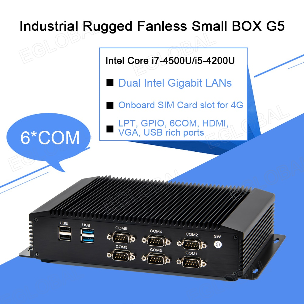 Eglobal dupla lan g5 intel i7 4500u mini pc cpu industrial desktop quiosque bolso pc mini barato